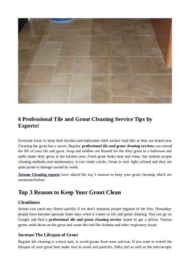 6 Professional Tile And Grout Cleaning Service Tips By Experts