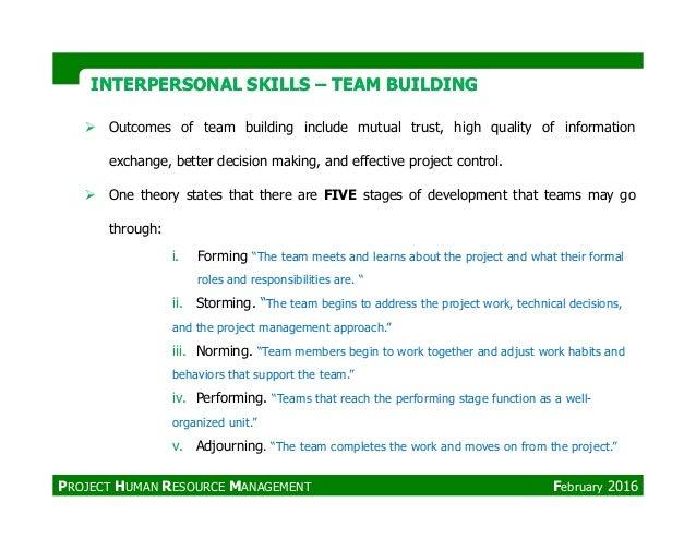 INTERPERSONAL SKILLSINTERPERSONAL SKILLS –– TEAM BUILDINGTEAM BUILDING Outcomes of team building include mutual trust, hig...