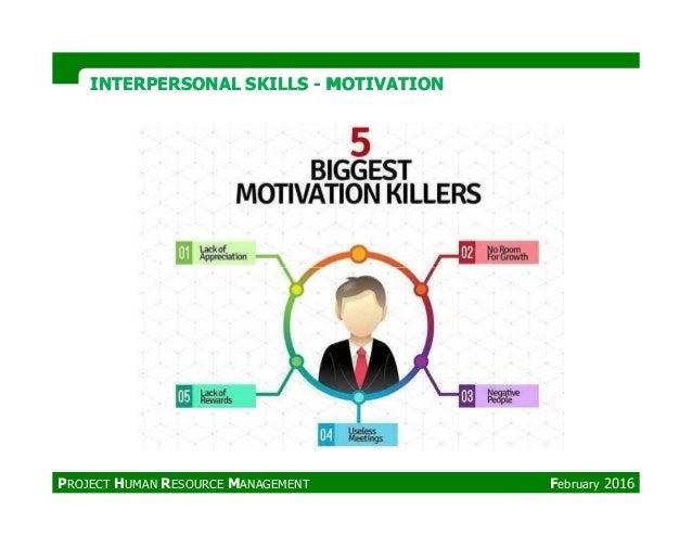 INTERPERSONAL SKILLSINTERPERSONAL SKILLS -- MOTIVATIONMOTIVATION PROJECT HUMAN RESOURCE MANAGEMENT February 2016