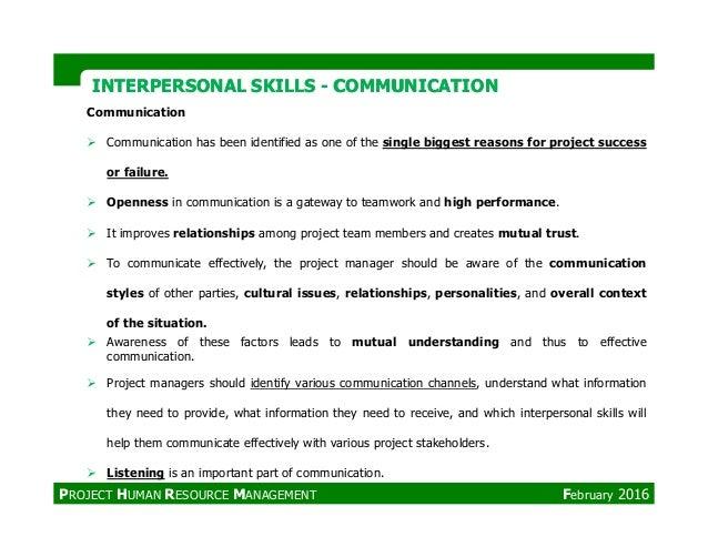 INTERPERSONAL SKILLSINTERPERSONAL SKILLS -- COMMUNICATIONCOMMUNICATION Communication Communication has been identified as ...
