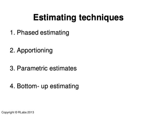 accurate estimating Accurate estimating little things mean a lot by michael j stott accurate  estimating is about what-if scenarios what if the customer wants the edges of.