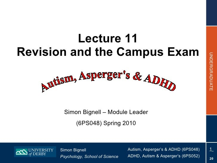 Lecture 11 Revision and the Campus Exam Simon Bignell – Module Leader (6PS048) Spring 2010