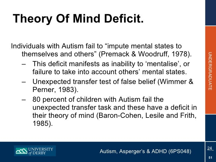 the theory of mind account of autism essay Mindblindness: an essay on autism and theory of mind, 1997, 171 pages, simon baron-cohen, 026252225x, 9780262522250, mit press, 1997  1987, history, 192 pages an account of the liberation of nazi concentration camps download mindblindness: an essay on autism and theory of mind.