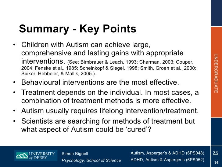 Early Autism Diagnosis Key To Effective >> Topic 9 - Treatment For Autism 2010
