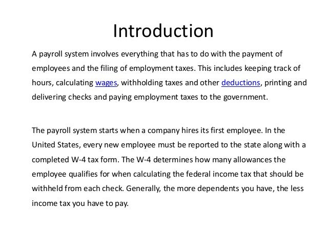 payroll system thesis pdf