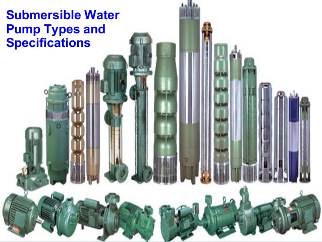 Submersible Water Pump Types And Specifications