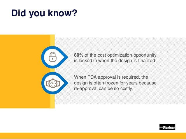 Did you know? 80% of the cost optimization opportunity is locked in when the design is finalized When FDA approval is requ...
