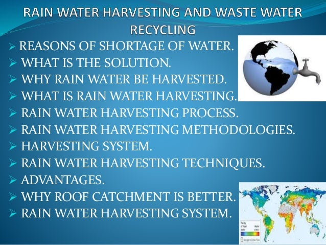 6 Rain Water Harvesting And Waste Water Recycling