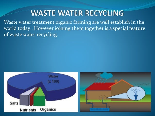 Industrial wastewater recycling.