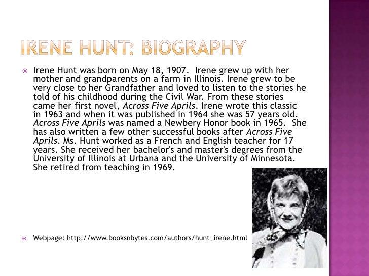 irene hunt biography