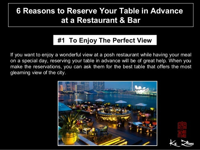 Reasons To Reserve Your Table In Advance At A Restaurant Bar - Table 6 reservations