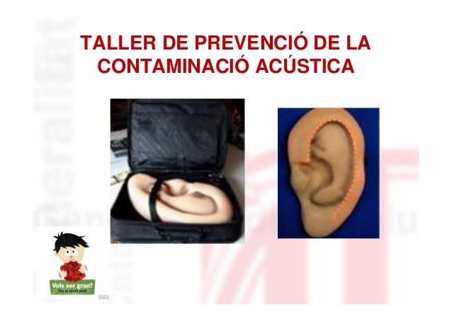 TALLER DE PREVENCIÓ DE LA CONTAMINACIÓ ACÚSTICA