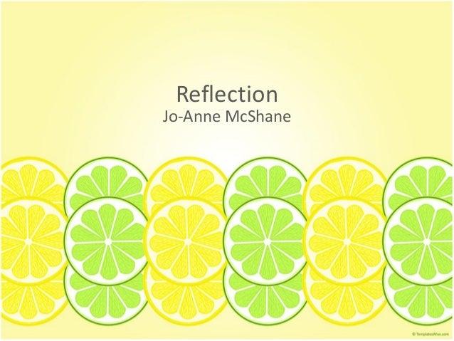 Reflection Jo-Anne McShane