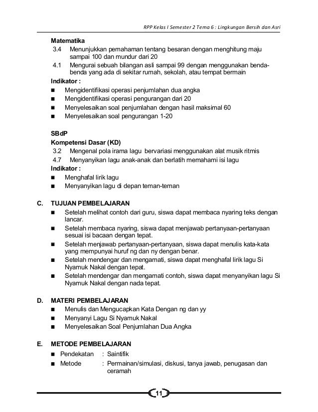 Rpp Bahasa Indonesia Kelas 2 Sd Tentang Lingkungan 8 Rpp Sd Kelas Peristiwa Alam 6 Rpp Sd