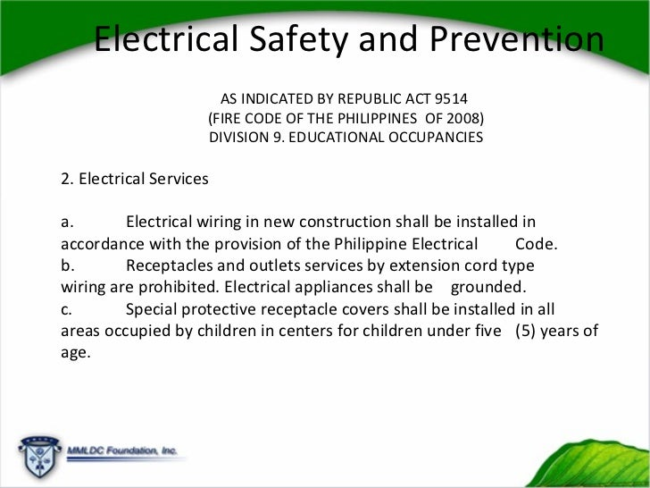 fire safety code of the philippines essay National institute for occupational safety and health  safety commission school chemistry laboratory safety guide  b national fire protection association.