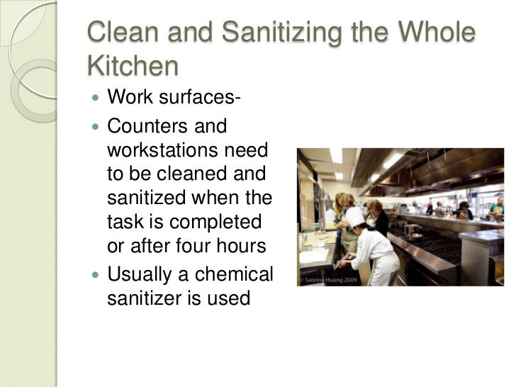 6 Sanitation Procedures