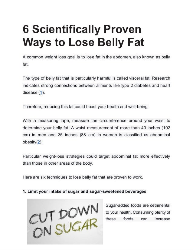 6 scientifically proven ways to lose belly fat 1 638
