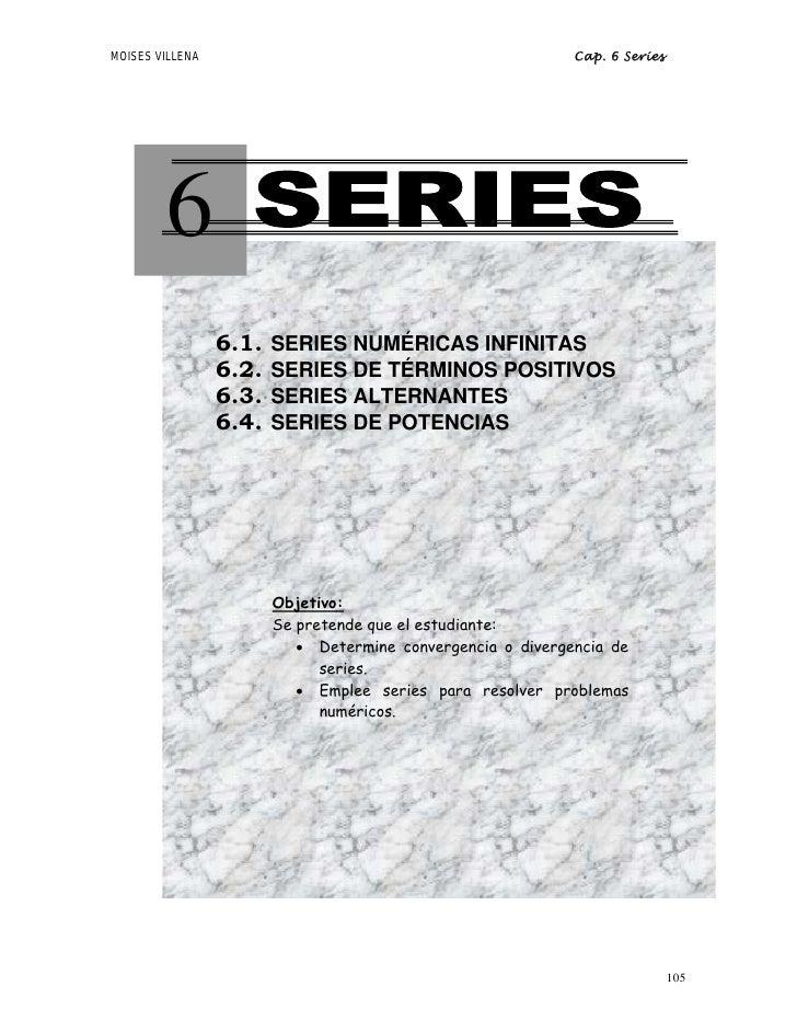 MOISES VILLENA                                               Cap. 6 Series             6        1.1                    6.1...
