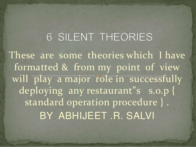 6 silent theories for hospitality industry