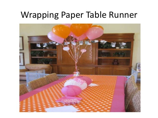 Balloon Wall; 7. Wrapping Paper Table Runner ...
