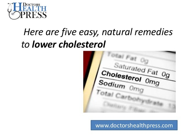 Ways To Lower Cholesterol Natural Remedies