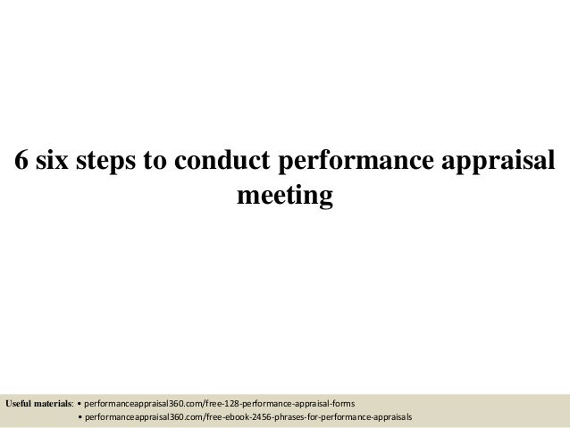 Performance Appraisal Tools and Techniques