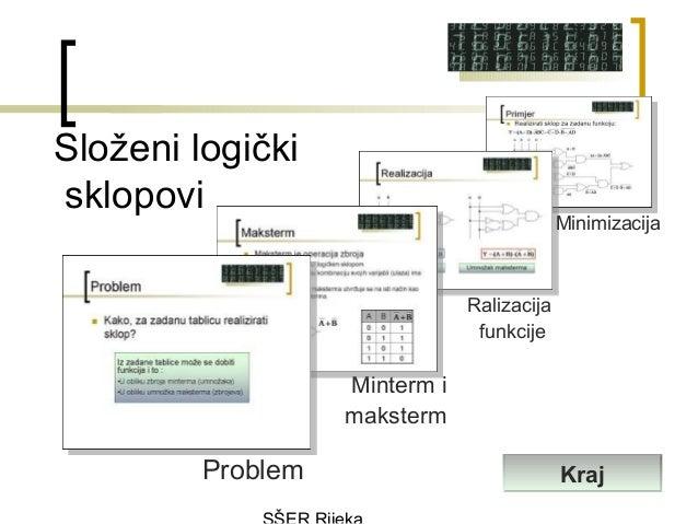Složeni logičkisklopovi                                            Minimizacija                               Ralizacija  ...