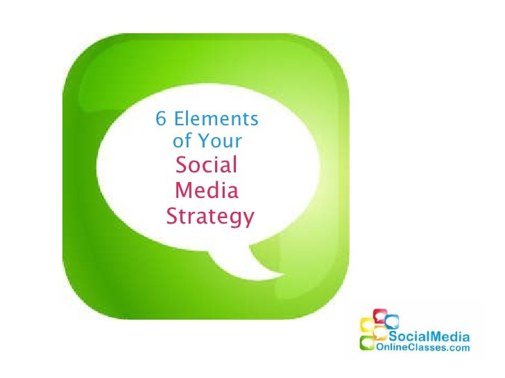 6 Elements  of Your  Social  Media  Strategy