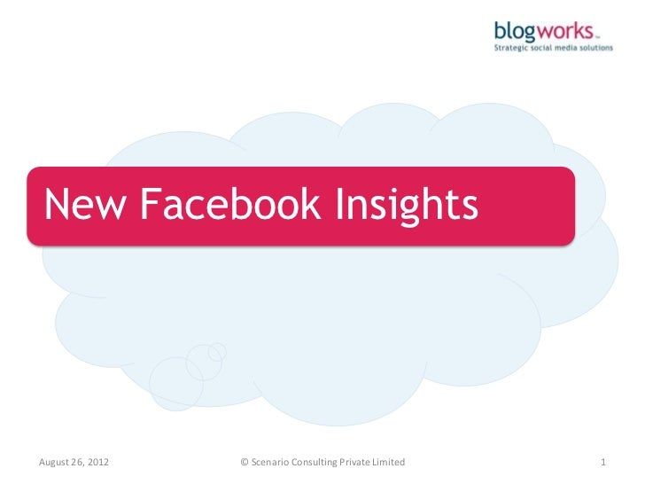 New Facebook InsightsAugust 26, 2012   © Scenario Consulting Private Limited   1