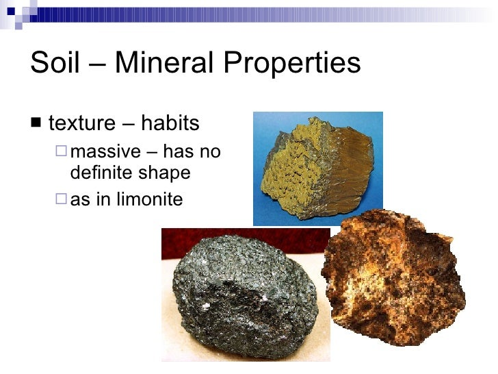 Soil evidence for Is soil a mineral