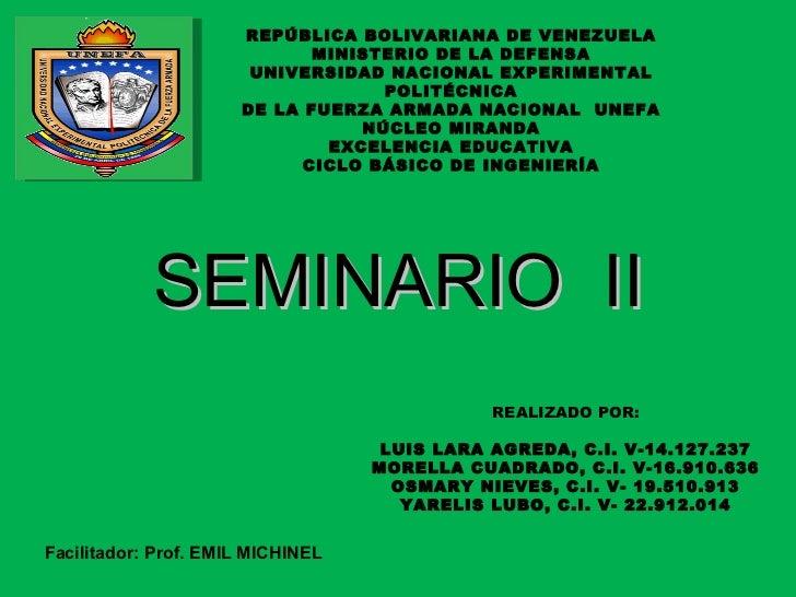 REPÚBLICA BOLIVARIANA DE VENEZUELA MINISTERIO DE LA DEFENSA UNIVERSIDAD NACIONAL EXPERIMENTAL POLITÉCNICA DE LA FUERZA ARM...