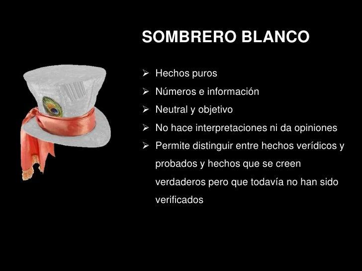 6 sombreros ppt 3e887cbd566