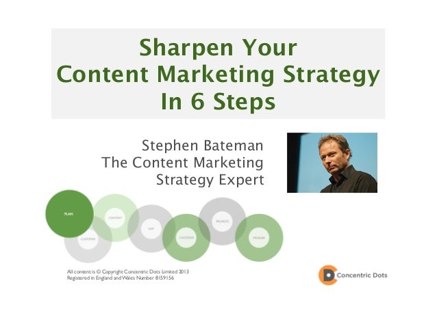 Sharpen Your Content Marketing Strategy In 6 Steps Stephen Bateman The Content Marketing Strategy Expert All content is © ...