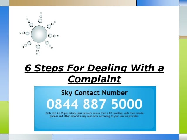 6 Steps For Dealing With a Complaint