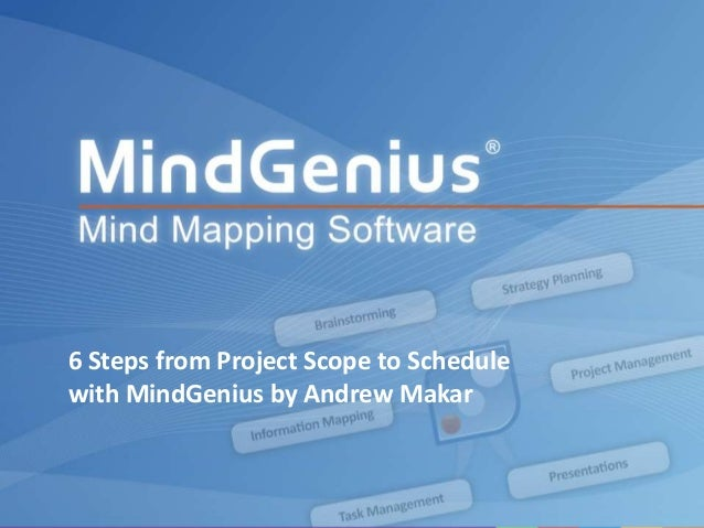 6 Steps from Project Scope to Schedule        with MindGenius by Andrew MakarAll rights reserved worldwide. Copyright © 20...