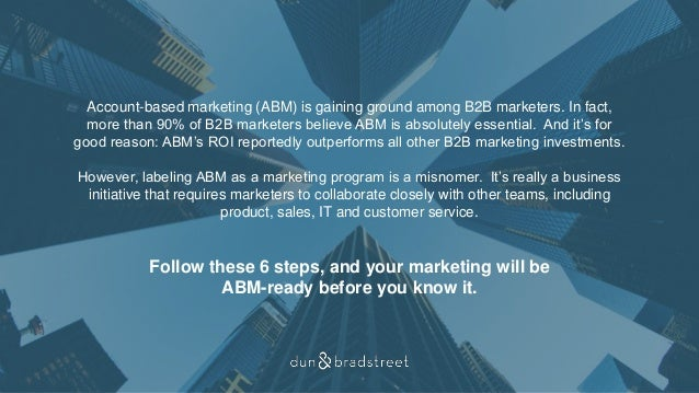 6 Steps to Account-Based Marketing Success Slide 2
