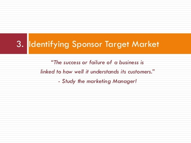 """""""The success or failure of a business is linked to how well it understands its customers."""" - Study the marketing Manager! ..."""