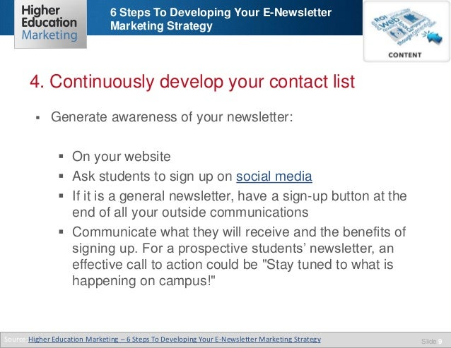 6 steps to developing your e newsletter marketing strategy