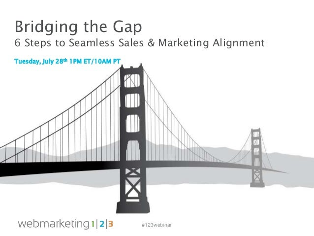 #123webinar Tuesday, July 28th 1PM ET/10AM PT Bridging the Gap 6 Steps to Seamless Sales & Marketing Alignment