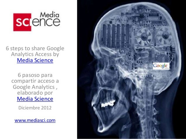 6 steps to share Google  Analytics Access by     Media Science    6 pasoso para  compartir acceso a   Google Analytics ,  ...