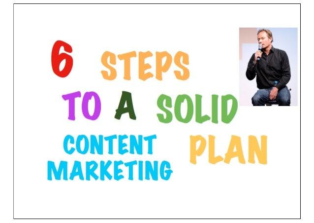 1234566 steps content marketing planning framework