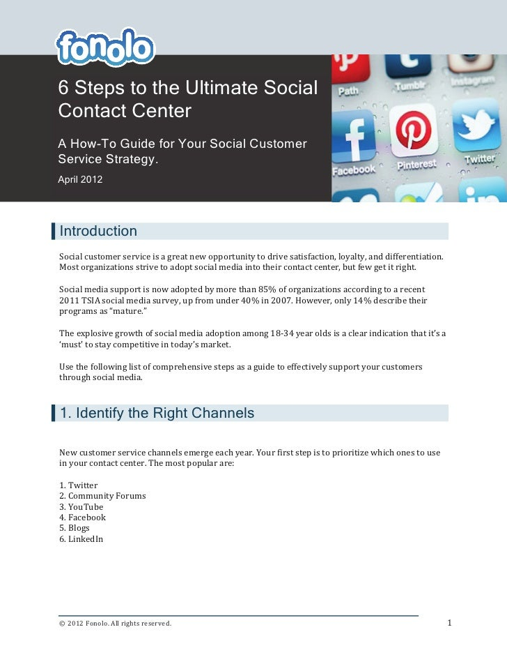6 Steps to the Ultimate Social                      xContact CenterA How-To Guide for Your Social CustomerService Strategy...