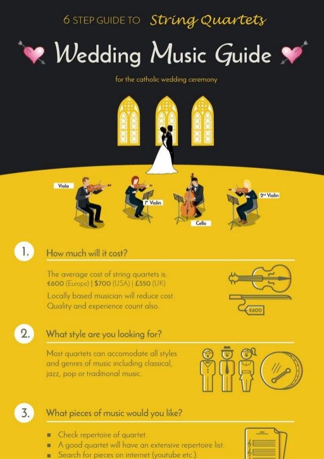 6 step wedding ceremony guide string quartet infographic