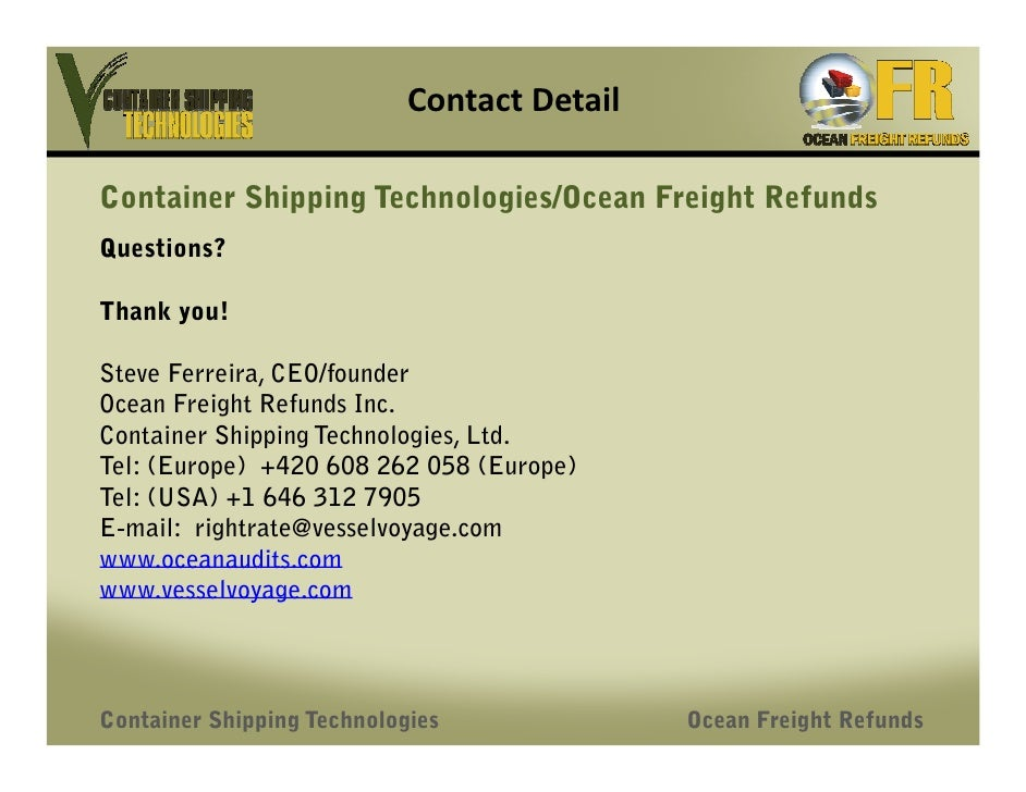 detailed answers to ocean carriers case study questions In january 2001, mary linn, vice president of finance for ocean carriers, a shipping company with offices in new york and hong kong, was evaluating a.