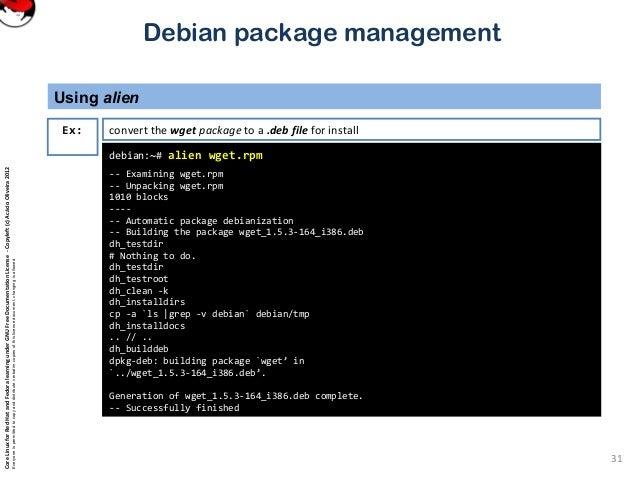 install rpm file debian