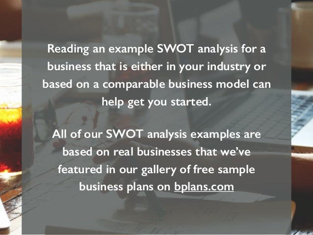 reading an example swot analysis