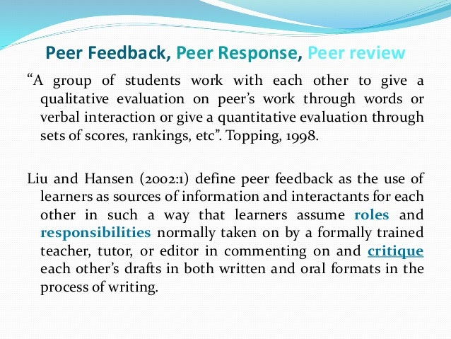 Effective Feedback in the Classroom