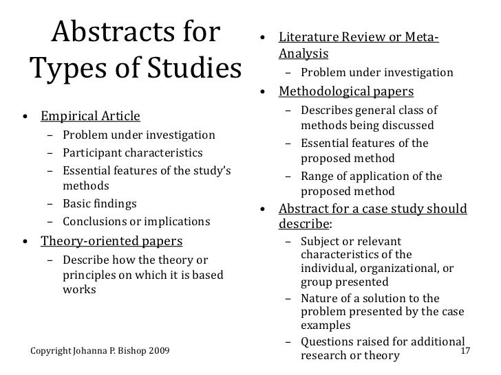 write abstract research paper apa