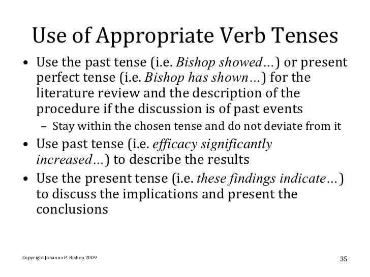 Past tense or present tense in essay