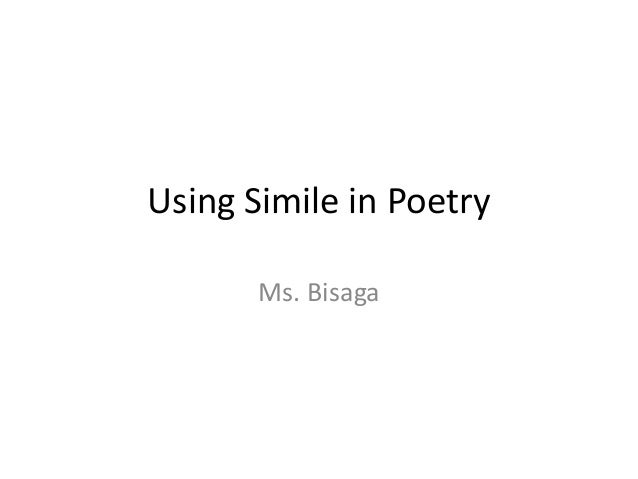 6th grade. Simile in Poetry